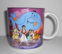 Disney Aladdin Jasmine Genie Jafar Abu Coffee Tea Mug Ceramic Cup 12 Oz Rare - $9.49