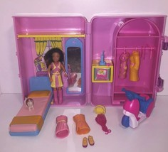 Polly Pocket Origin Fashion Polly Carrying Case Playset Room Doll Moped ... - $15.00