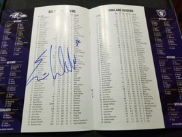 Eric Weddle Baltimore Ravens GAME DAY Program with Autograph inside of ... - $24.00
