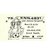 Vintage QSL Postcard  KNN 4831 Grand Rapids, Michigan  John Eleanor Burg... - $22.05