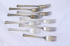 1881 Rogers Oneida Del Mar Dinner and Salad Forks Lot of 9 - $45.07