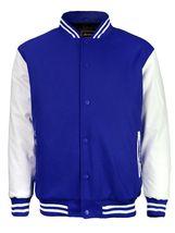 New Men's Premium Classic Snap Button Vintage Baseball Letterman Varsity Jacket image 7