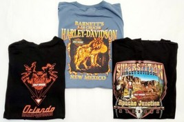 Men's Lot of 3 Harley-Davidson Graphic Print Early 2000s T-Shirts Size 2... - $55.86