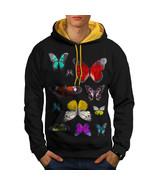 Butterfly Collection Sweatshirt Hoody Color Wing Men Contrast Hoodie - $23.99+