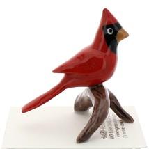 Hagen-Renaker Miniature Ceramic Bird Figurine Cardinal on Branch