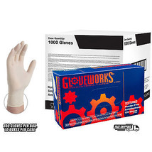 GLOVEWORKS Ivory Latex Industrial Powder Free Disposable Gloves (Case of... - $89.50