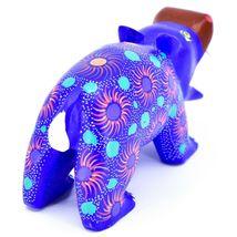 Handmade Oaxacan Copal Wood Carving Painted Folk Art Hippopotamus Hippo Figure image 3