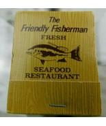 "Vtg ""The Friendly Fisherman Restaurant"" Matchbook Madeira Beach Florida ... - $12.86"
