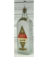 Gilbey's Distilled London Dry Gin Bottle Frosted Glass 1 Quart 90 Proof ... - $33.33
