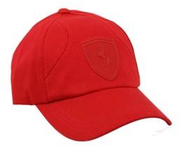 NEW PUMA FERRARI MEN'S PREMIUM TEAM HAT BASEBALL CAP ADJUSTABLE RED PMMO3023