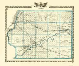 Whiteside Illinois Landowner - Warner 1870 - 23 x 27.43 - $36.95+