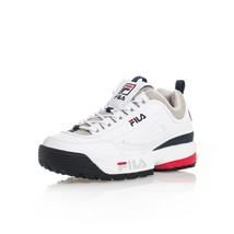 SNEAKERS UOMO FILA DISRUPTOR CB LOW 1010707.1FG  SHOES MAN LEATHER Bianco - $91.63
