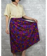 Vintage 1980s Floral womens skirt with pockets size M-L maxi - $28.99