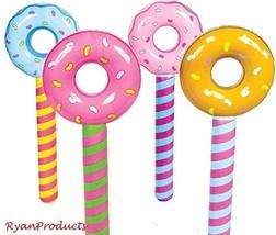 12pcs Jumbo Inflatable pool float party toy set - Donut Lollipop Design - $42.49