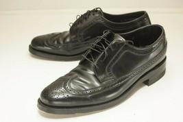 Florsheim Size 8 C Black Wingtips Men's Dress Shoes - $68.00
