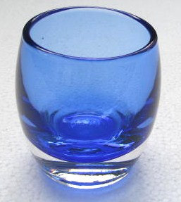 Cobalt Blue Color Handblown Collectible Glass Candle Holder