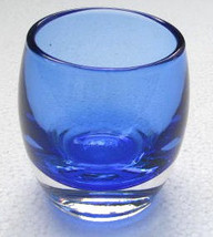 Cobalt Blue Color Handblown Collectible Glass Candle Holder - $20.00