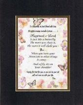 Personalized Touching and Heartfelt Poem for Happiness & Love - Poem on 11 x 14  - $19.75