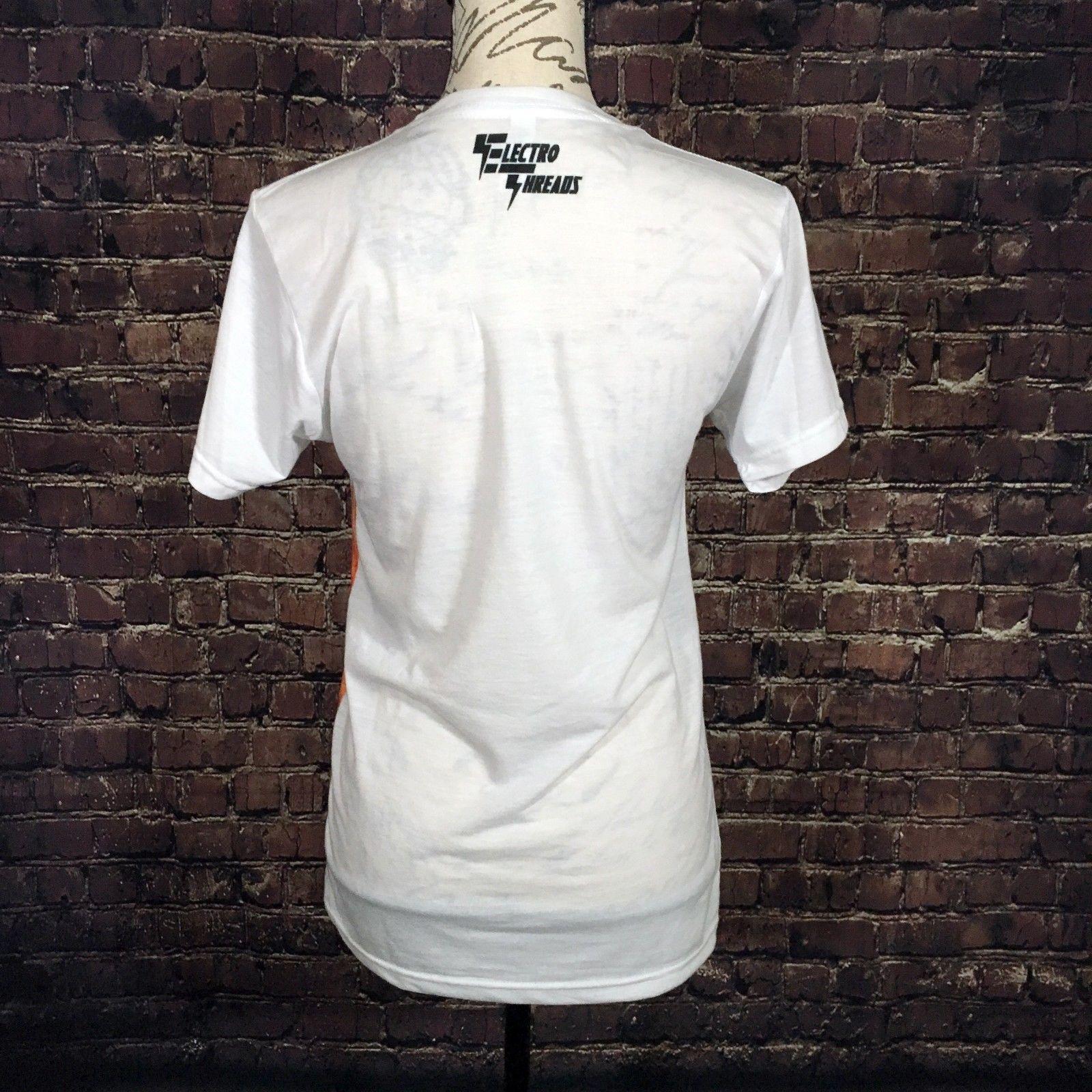 NEW Electro Threads FRIENDLY SLOTH White Unisex Crew Short Sleeve T-Shirt XSmall