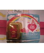 Vintage Kenner Care Bears Miniature Love A Lot Pink Bear - Battered Card - $5.85