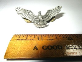 """Vintage WWII Army Pin Badge Eagle U.S 1-7/8"""" -A1 - $12.95"""