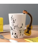 Ceramic Coffee Mug Music Notes Guitar Piano Violin Tea Cup Gift Home Kit... - $24.95