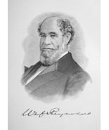 WILLIAM REYNOLDS Ohio Railroad Capitalist & Financier - 1895 Portrait Print - $9.44
