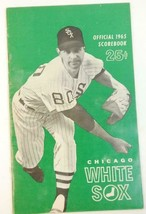 1965 Chicago White Sox Baseball Scorecard vs Cleveland Indians VG Scored - $16.78