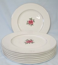 Johnson Bros Snowhite Regency Center Rose Dinner Plate set of 8 - $48.40