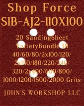 Shop Force S1B-AJ2-110X100 - 17 Different Grits - 20 Sheet Variety Bundl... - $19.97