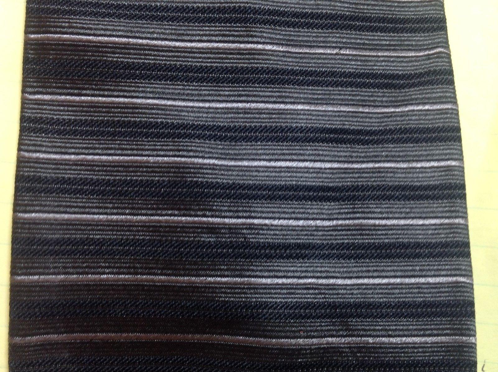Geoffrey Beene Horizontally Striped Multicolor Silk Tie