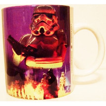 Classic Star Wars Stormtroopers Stoneware Photo Ceramic Mug 2002 NEW UNUSED - $9.74