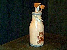 Hand Painted Vase with Kitchen Utilizes Decor AB 54a Vintage image 3