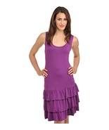 Peter Nygard Women's Purple Sleeveless Tiered Tank Stretchy Casual Dress XL - $54.44