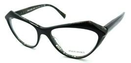 Alain Mikli Rx Eyeglasses Frames A03089 004 55-17-140 Lumette Black Marble Italy - $103.41