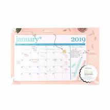 Erin Condren 2019 Metallic Lettered Desk Calendar Thru - December 2019 1... - $41.18