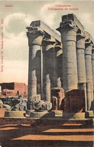 LUXOR EGYPT COLONNADES de TEMPLE SAVOY LIBRARY (N ZACHOS) # 1510 POSTCARD - $6.29