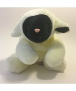 "Ty Buddies Chops Lamb Black Face White Sheep Yellow Bow Plush 13"" Toy Lo... - $12.86"