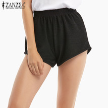 ZANZEA 2018 Summer New Fashion Women Elastic Waist Short Sexy Girls Solid Shorts - $36.40