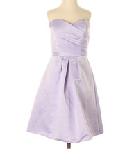 NEW ABS by Allen Schwartz Lilac Pleated Mini Cocktail Dress Size 2 NWT - $42.06