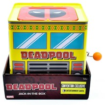 Entertainment Earth SDCC 2019 Exclusive Deadpool Retro Style Jack-in-the-Box image 2