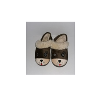 NEW Toddler Boys Aline Fur Bear Critter Slippers House Shoes (M- 7-8) Brown - $6.79