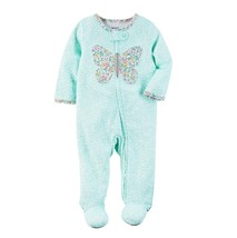 Carter's Baby Girls Butterfly Interlock Footed Cotton Coverall Turquoise... - $17.99
