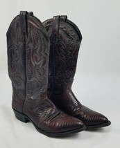 Vintage J.Chisholm men 9 brown leather cowboy western - $78.21