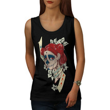 Cool Sugar Horror Skull Tee  Women Tank Top - $12.99