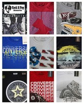 Converse Boys T-Shirts  Graphic Tees Youth S, M, L, XL Various Patterns - $17.99