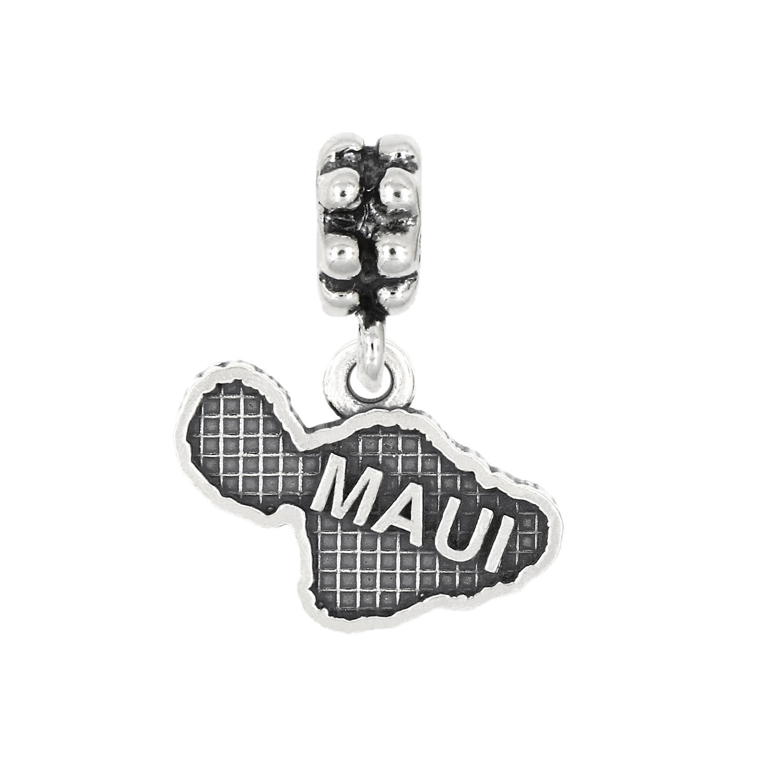 STERLING SILVER DANGLE ISLAND OF MAUI BEAD CHARM