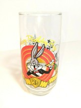 Bugs Bunny 1990 Happy Birthday 50th Anniversary Glass Warner Bros Looney... - $9.89