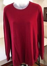Talbots Pure Cashmere Women's X Crew Neck Sweater Deep Burgundy Wine C103 - $84.15