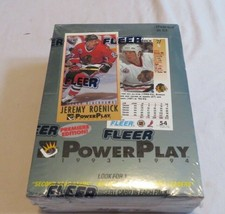 1993-94 Fleer PowerPlay NHL Series 1 Sealed Box Of Hockey Cards! 36 Packs! - $46.74